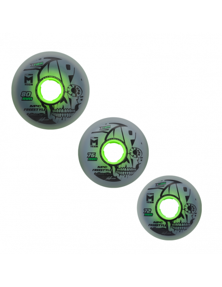 2 MPC - FREESTYLE WHEELS X-Firm - DUAL NATURAL x 1
